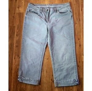 ☀Boden gray cropped jeans 12L